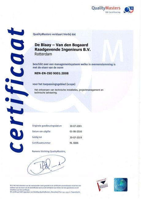 Certificaat Quality Masters